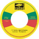 Linval Thompson - I Love Marijuana / version - Iroko 7""